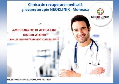 Ameliorare in Afectiuni Circulatorii-Cost 2000 lei/11 nopti