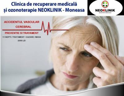 Preventie in AVC sau Ameliorare in sechele post AVC cost 2000 lei NeoKlinik statiunea Moneasa